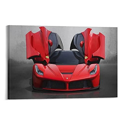 LAMTOR 2013 Ferrari Laferrari Super Car Colgante Cartel Marco de Pergamino Mural de Lienzo Decoración de Pared Perchas...
