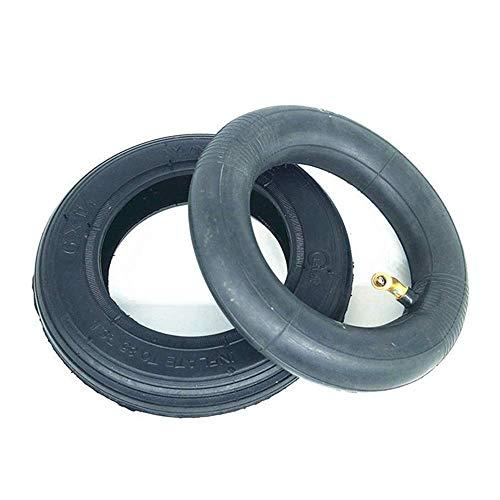 HZWDD Neumáticos sólidos 6X1 1/4 a Prueba de explosiones Neumáticos Interiores y Exteriores Antideslizantes Resistentes al Desgaste, adecuados para Mini Scooters de 6 Pulgadas