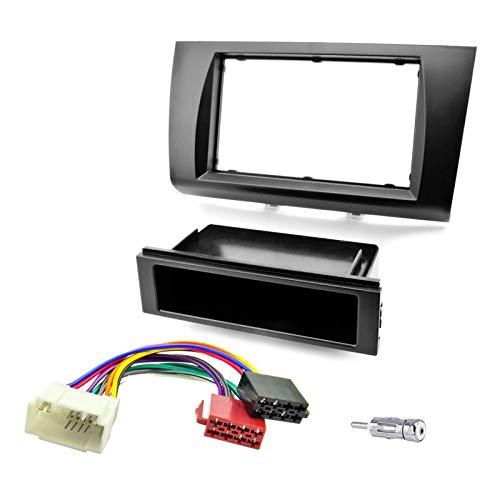 Sound-way 1 DIN / 2 DIN Radiopaneel Frame Autoradio, Antenne Adapter, ISO Aansluitkabel, ondersteuning voor Suzuki Swift