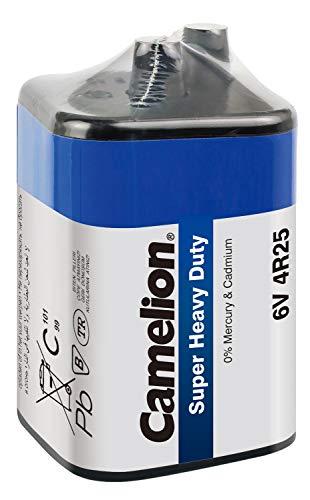 Camelion 10110125 Super Heavy Duty Batterie (4R25, 6 Volt Block, 9 Ah, SP1, geeignet für Baustellenlampe) blau