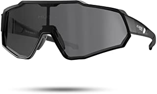 CoolChange Polarized Cycling Sunglasses Full Screen TR90 Unbreakable Lightweight Sports Glasses for Men Women