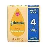 Jabón de miel Johnson's Baby, 4 x 100 g