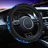 Abstract Blue Dragon Steering Wheel Cover for Women Girls Ladies Auto Wheel Cover Stretch Neoprene Wheel Protector Non Slip Print Cute Car Interior Universal Fit 15 in