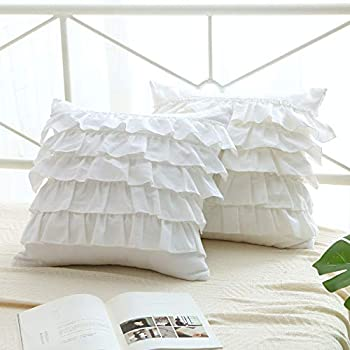 Best white ruffle throw pillow Reviews