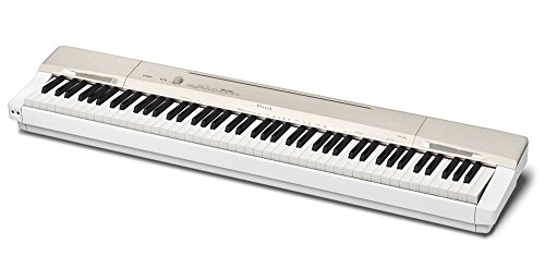 Casio Privia PX-160GD 88-Key Full Size Digital Piano with Power Supply, Gold