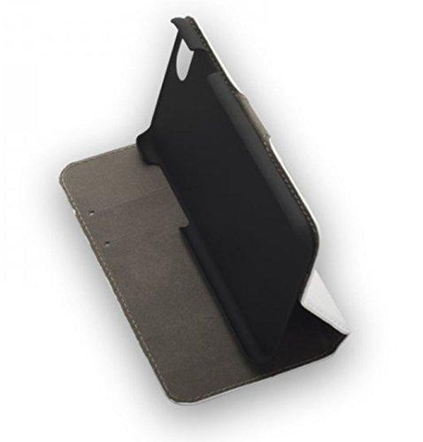 'de haute qualité premium BookStyle Housse Flip Case Blanc pourApple iPhone 7 Housse Coque Etui Portable Case Cover Wallet