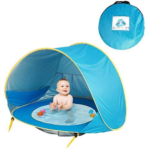 HAOXU Tienda de playa para bebé con piscina impermeable tienda a prueba de sol tienda de playa tienda de juguete para el jardín de playa al aire libre
