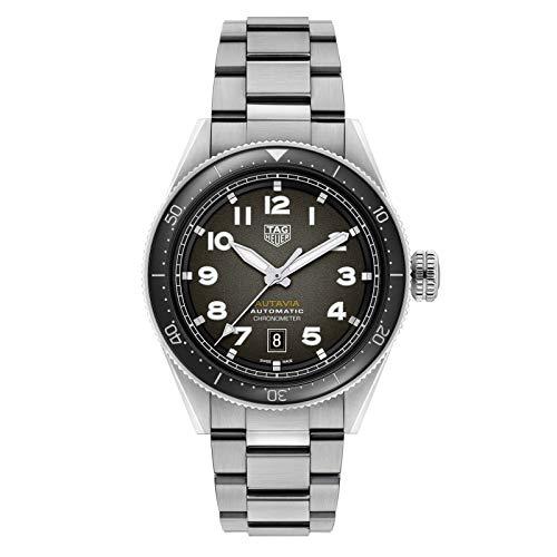 Tag Heuer orologio Autavia 42mm Calibre 5 COSC Ceramica nera automatico Acciaio WBE5114.EB0173