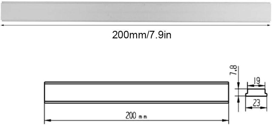 outil de menuisier pour le travail du bois 100mm//3.9in Fafeicy Dalle de glissi/ère non poreuse /à fente en T onglet /à fente en alliage daluminium