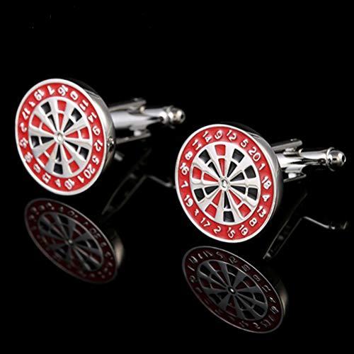 Gemelos para Hombres, Mesas De Ruleta Rojo Cobre Encanto Francés Cuff Links...