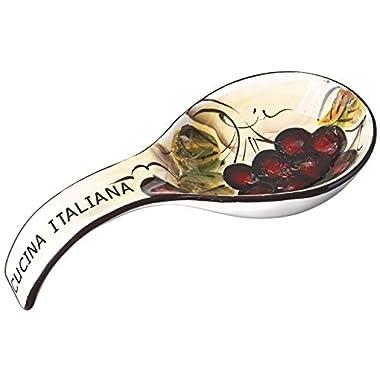 Cucina Italiana Ceramic Kitchen Stove, Counter Top Deep Spoon Rest