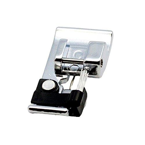 """Alfa Prensatelas para realce de costuras borde tela """"C"""", accesorio para máquina de coser, acero inoxidable y plástico"""