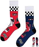 TODO COLOURS Casual Mix und Match Socken - Formula Fan - mehrfarbige, verrückte, bunte Socken (39-42, Formula Fan)
