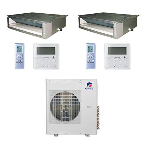 Gree MULTI42CDUCT208-42,000 BTU Multi21+ Dual-Zone Concealed Duct Mini Split Air Conditioner Heat Pump 208-230V (18-24)