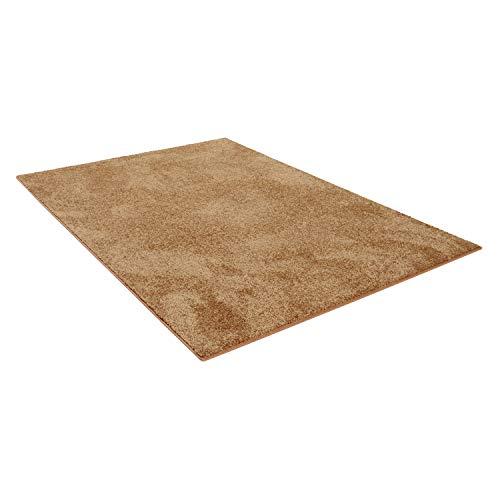 Carpet Studio Flauschig-weiche Hochflor Teppich, 160x230cm,Wohnzimmer/Schlafzimmer/Küche/Flur, Baumwollrücken, praktische Reinigung, Terracotta