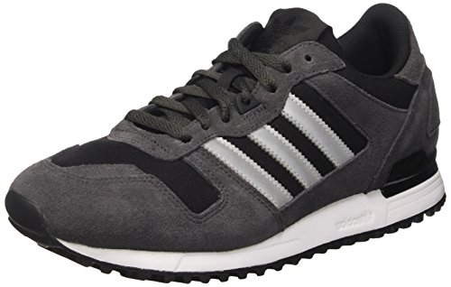 adidas Men's Zx 700 Low-Top Sneakers, Grey (Utiblk/Metsil/Core Black), 8.5 UK 42 2/3 EU