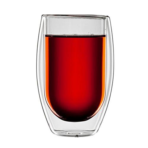 bloomix T-005-400-G Borosilikat Tetouan Tee doppelwandiges Thermo-Teeglas 2-er Set