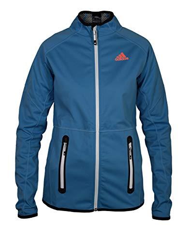 adidas Damen Softshelljacke Funktionsjacke Windjacke ungefüttert, Farbe:blau, Größe:S