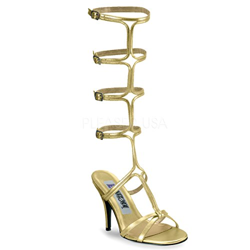 Funtasma by Pleaser Women's Roman-10 Sandal,Gold Pu,10 M US