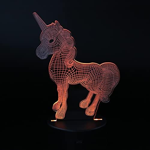 Iluminación visual creativa 3D, lámpara de noche 3D de decoración ligera 3D de luz 3D para dormitorios