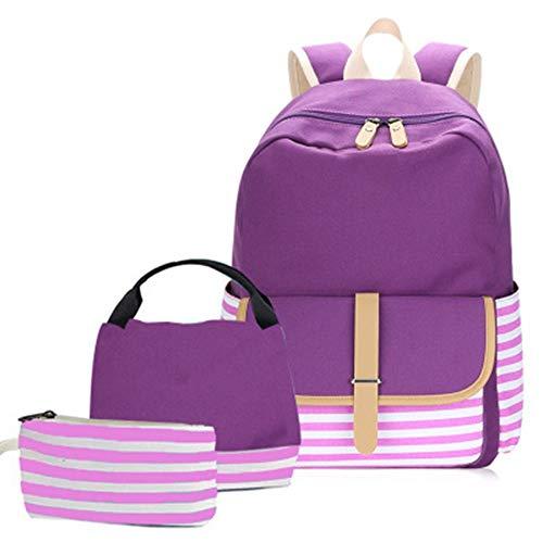 Mochila Escolar Lona Impermeable para el Instituto Mochila Infantil para Niños para...