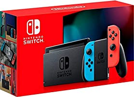 Nintendo Switch Extended Battery Life with Neon Blue and Neon Red Joy‑Con