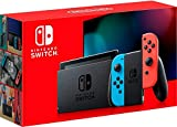Nintendo Switch with Neon Blue and Neon...