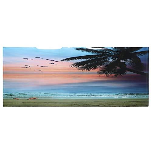 GOTOTOP Cartel de la pecera, Seaside Sunset Clouds Pattern Acuario Fondo Poster PVC Adhesivo Pegatina Fish Tank Wallpaper Decoración(122 * 50cm)