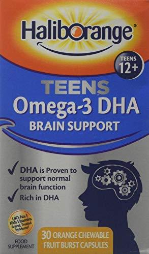 Haliborange Teens Omega-3 DHA Brain Support Orange Chewable Capsules 30