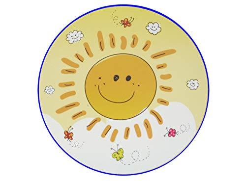 Peint designte Lampe murale à LED Sunny Ø25 cm avec abat-jour incassable apporte le soleil à la Chambre de bébé