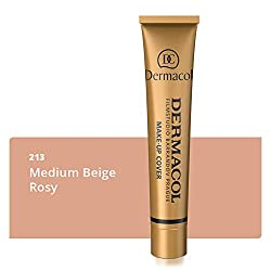 Dermacol Covering make-up cover for face and neck - Waterproof foundation with SPF 30 for a flawless complexion - Medium beige-rose 213, 30 g