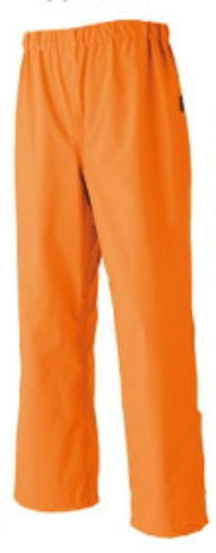 ミチオショップ 雨合羽 旭蝶繊維 ゴアテックスレインパンツ(ウエスト総ゴム) 51026 M 60オレンジ