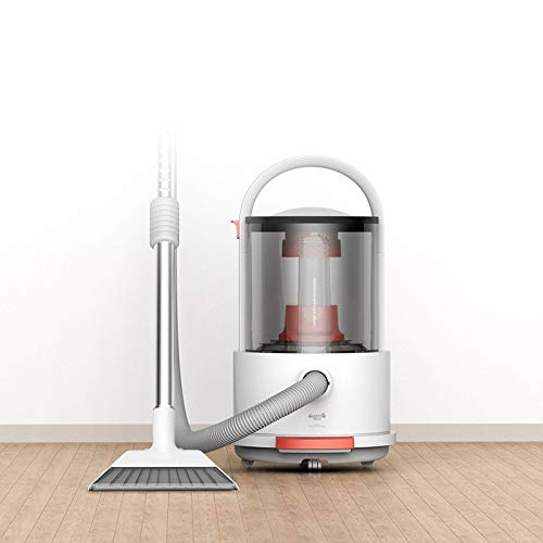HUOGUOYIN Wireless Vacuum Cleaner TJ200 Multi-Function Wet and Dry Bucket Vacuum Cleaner Detachable Large Capacity with 18,000Pa Strong Suction Vacuum Cleaner (Color : White, Plug Type : UK)