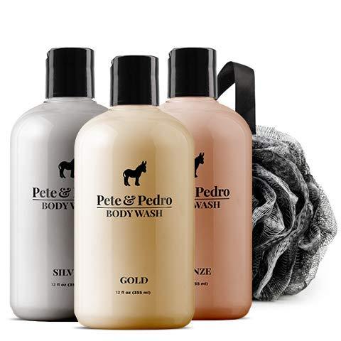 Pete and Pedro Three Amigos Body Wash Set   Men's Premium Gold, Silver, and Bronze