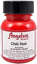 Angelus Brand Acrylic Leather Paint for Christian Louboutin Heels Only (1fl. Oz. / 29.5 Ml.) Chili Red