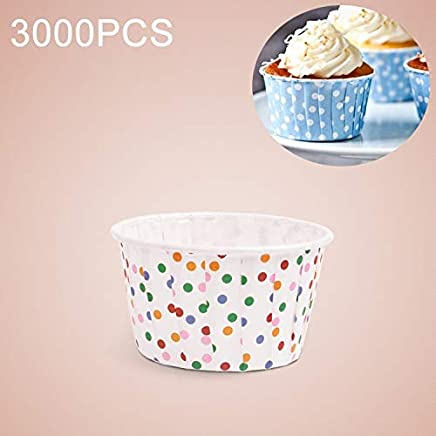 New Kitchen Appliance 3000 PCS Colorful Dots Pattern Round Lamination Cake Cup Muffin Cases Chocolate Cupcake Liner Baking Cup, Size: 5 x 3.8 x 3cm Kitchen Tool