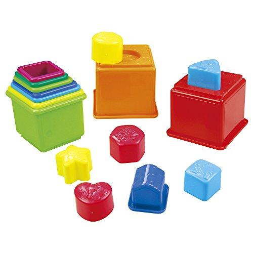 PlayGo - Set cubos apilables y figuras geométricas, 16 piezas (44286)
