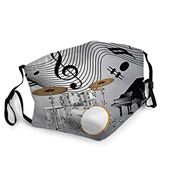 Mouth Cover Face Scraf Drum Set and Piano