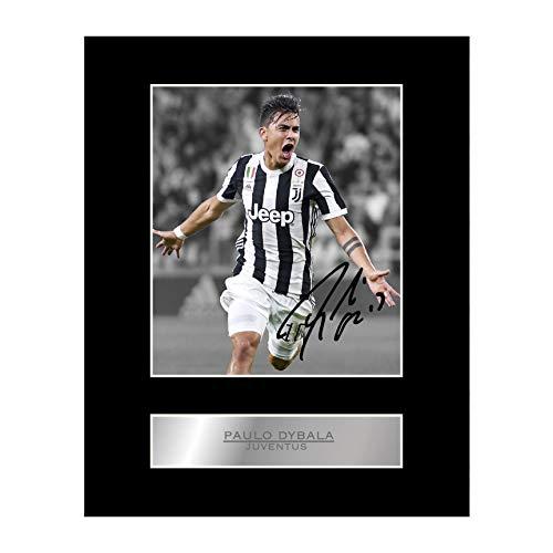 Stampa autografata di Paulo Dybala, con passepartout, Juventus FC,idea regalo