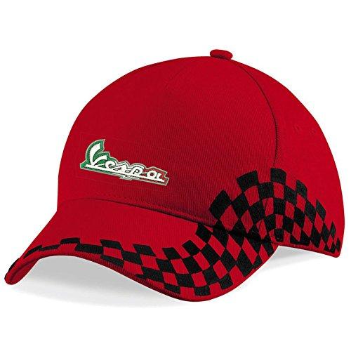 subla2017 Vespa Scooter Bordado Logo VIP Premium Gorra de béisbol – 1025 rojo Talla única