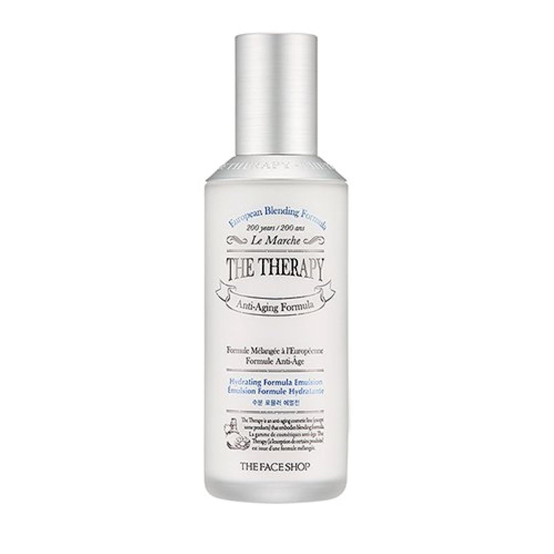 長方形シーズン風刺THE FACE SHOP The Therapy Hydrating Formula Emulsion 130ml/ザフェイスショップ ザ セラピー ハイドレーティング フォーミュラ エマルジョン 130ml