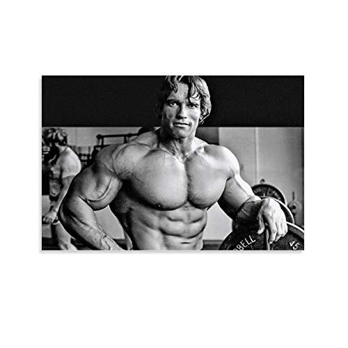 FANSH Arnold Schwarzenegger inspiriertes Fitness-Poster, dekoratives Gemälde, Leinwand, Wandkunst, Wohnzimmer, Poster, Schlafzimmer, Gemälde, 60 x 90 cm
