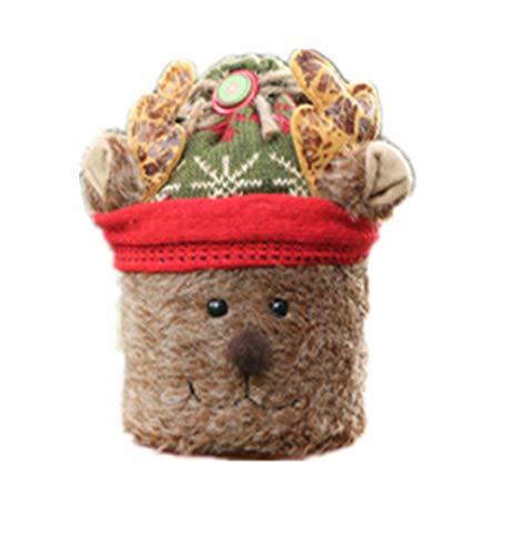 クリスマスの装飾品、立体的なお菓子の缶、子供のプレゼントの袋、リンゴの箱、クリスマスの家庭パーティー、精致なキャンディーのコンテナ、キャンディの容器、かわいいお菓子の箱。(デザインA)【ysy】