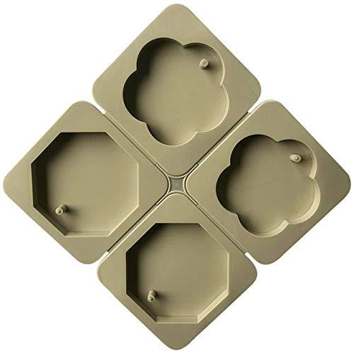 Molde Silicona Molde de 4 cavidades con Forma de Estrella de Pentágono, Molde Colgante DIY para Perfume, Arcilla, Resina, Molde Artesanal, Hecho a Mano H503-K438