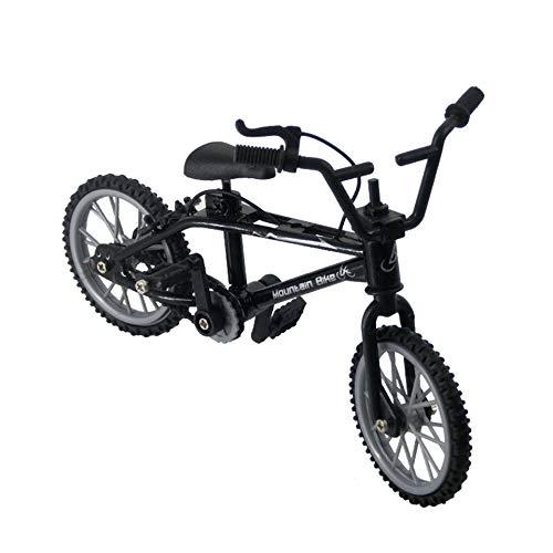 leenBonnie Mini-Finger-BMX Set Fan da Bici Giocattolo Lega Finger BMX Funzionale Bambini Bicicletta modle Finger Bike Eccellente qualità Giocattoli BMX Regalo-Nero
