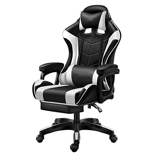 Gaming Chair,High Back Swivel Rolling Computer Desk Chair,Massage Gaming Chair,With Lumbar Pillow Racing Gamer Chair