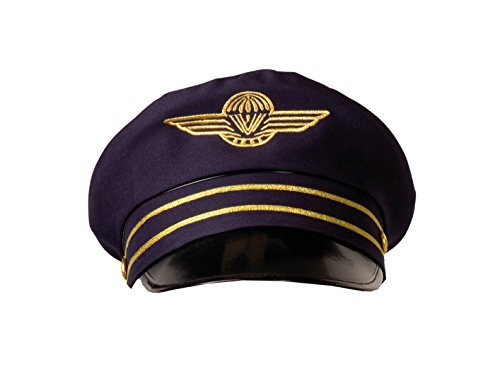 BOLAND 01209 - Mütze Flight Captain Pilotenmütze für Erwachsene, Gr. 57/59 dunkelblau