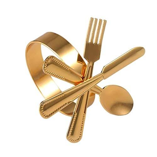 ADDYZ 10 servilleteros con forma de tenedor de vajilla de acero inoxidable servilletero sentado casual diversa fiesta decoración de mesa