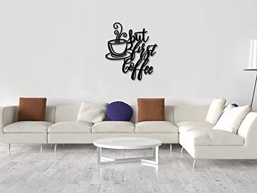 Ced454sy Kaffee-Schilder ~ Küchenschilder ~ Coffee Bar Schild ~ rustikale Küchendekoration ~ Bauernhofdekoration ~ Kaffee-Dekoration ~ Metallschilder ~ Kaffee-Station Wandkunst