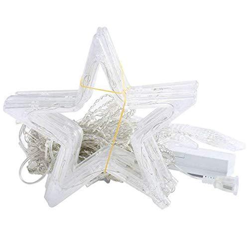 Bellaluee Lámpara de Cortina de Estrellas LED, Luces pequeñas de Colores, lámpara de Modelado, Cadena de árbol de Navidad, Fiesta, Boda, Luces de Navidad